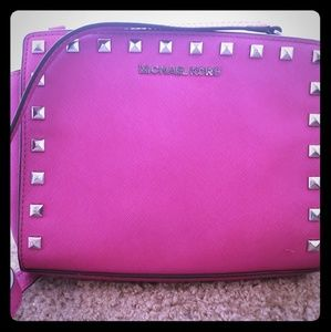 Michael Kors mini hot pink purse